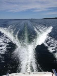 Inte ofta man kan köra på utan vågor, underbart!