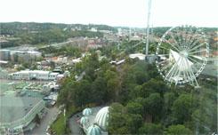 Utsikten från hissen från våning 25! Glad jag bodde längre ner när åskan gick!