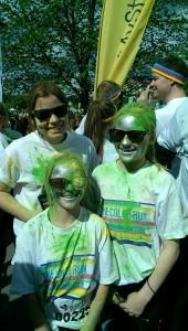 Färgglada barn innan start