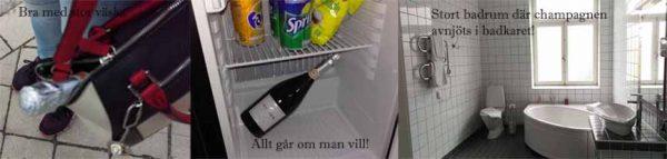 Stort badkar kräver Champagne