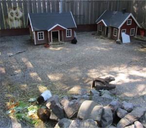 Marsvinen bodde riktigt fint med egna småhus!